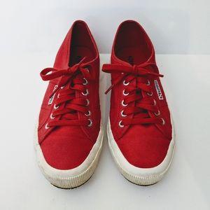SUPERGA Cotu Classic Red Canvas Shoes Size EU 39